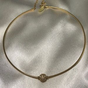 Lia Sophia Lady Remington Gold Crystals Ball Neck